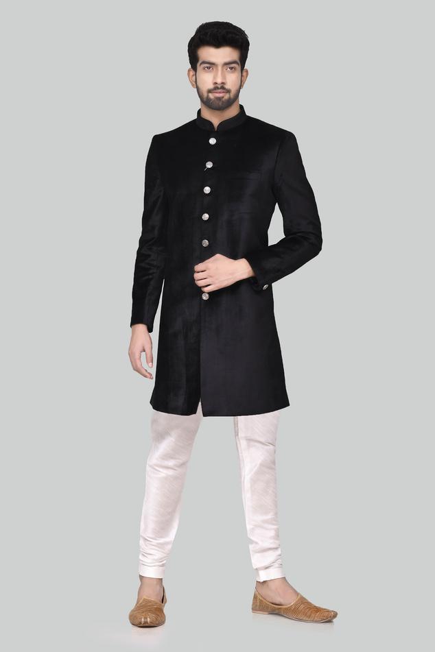 Velvet Sherwani Set
