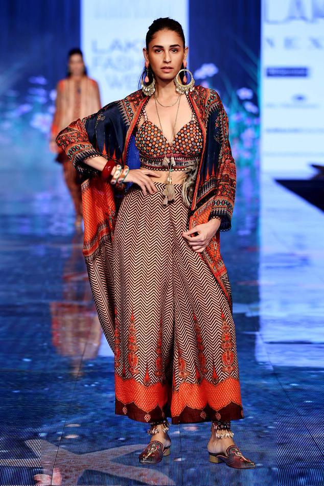 Silk Embellished Jacket & Palazzo Set