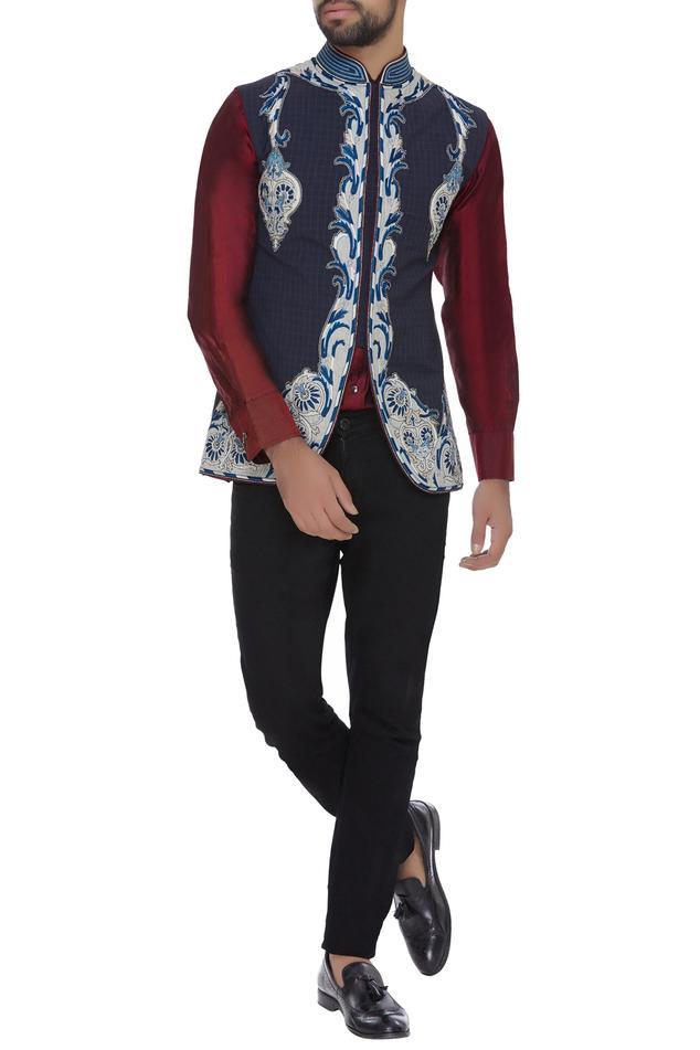 Turkish embroidered nehru jacket