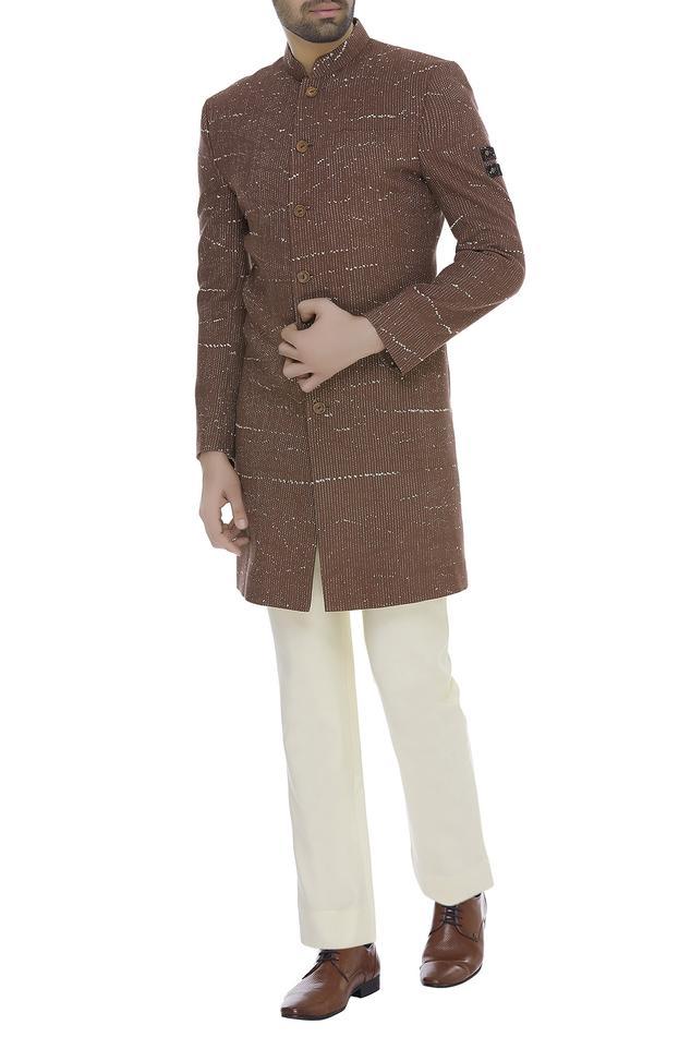 Thread embroidered sherwani