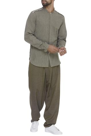 Cotton Draped Pants