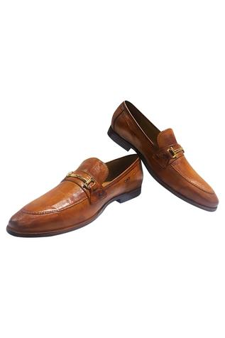 Horsebit Block Heel Loafers