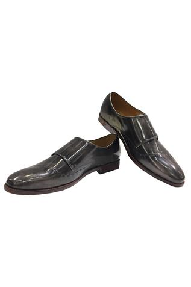 Side Buckle Strap Block Heel Shoes