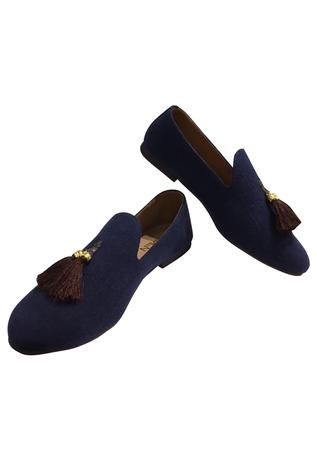 Embroidered Tassel Loafers