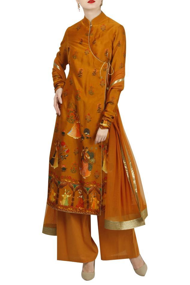 Digital 'Rass lila' printed angrakha set