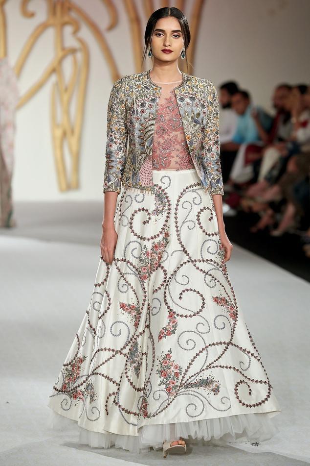 Embroidered Jacket Lehenga Set