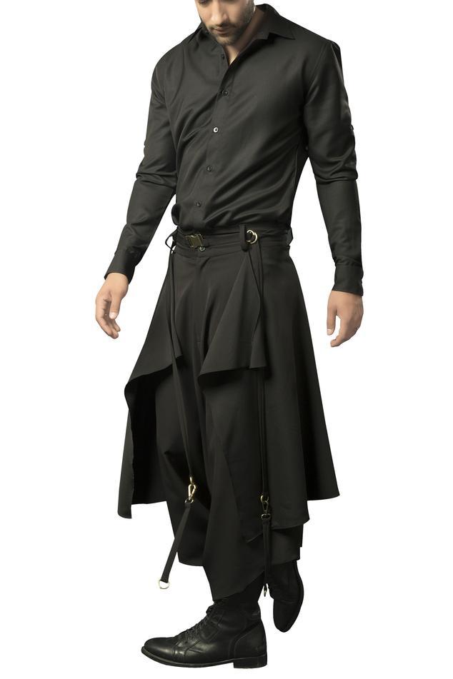 Heavy crepe layered dhoti pants