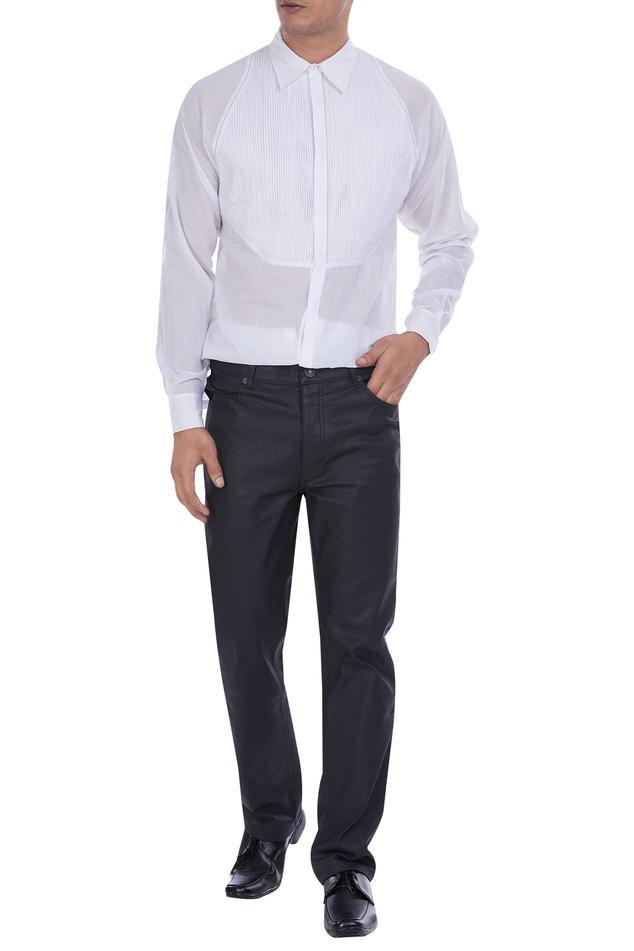 Pintucks detail shirt
