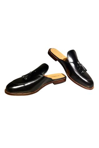 Pure leather handcrafted tassel slip-on loafers