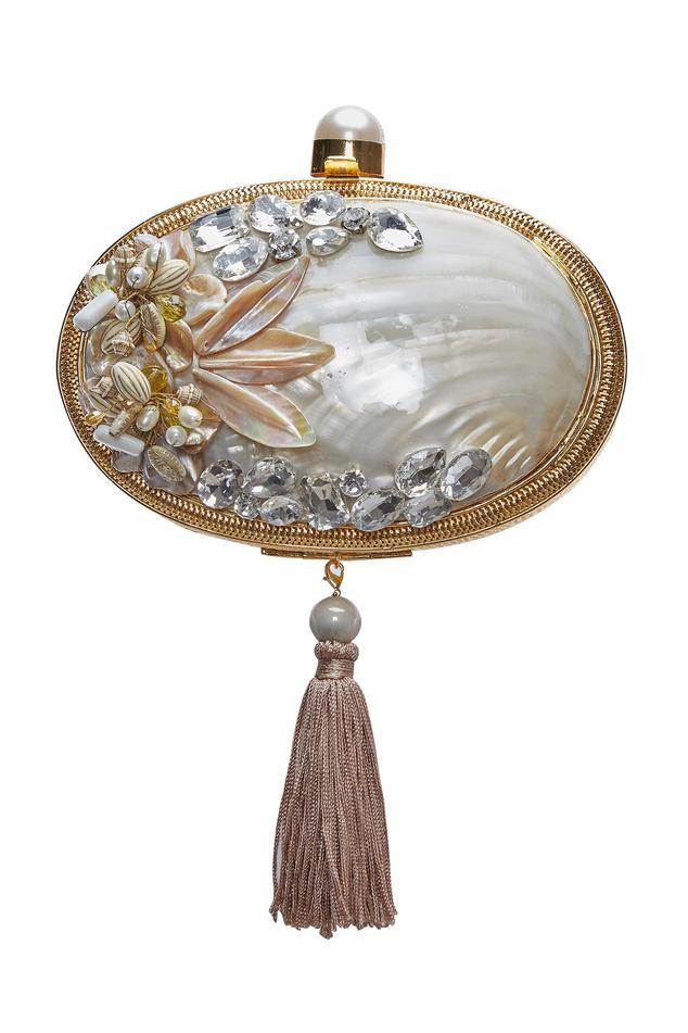 Handmade embellished clutch
