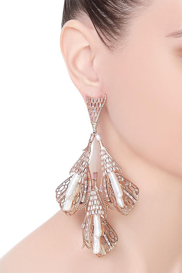 Enchanted keshi pearl cascade earrings