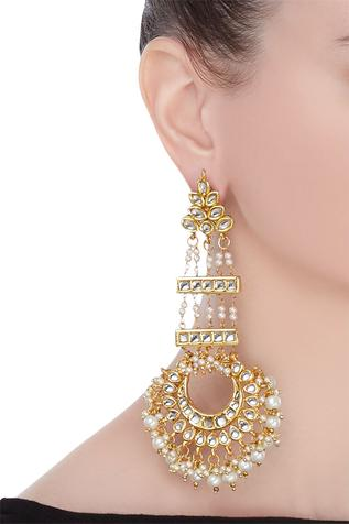 Statement chandbali earrings