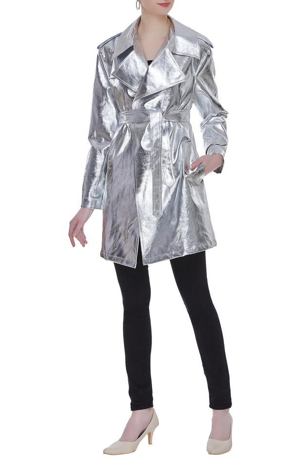 Metallic Trench Jacket