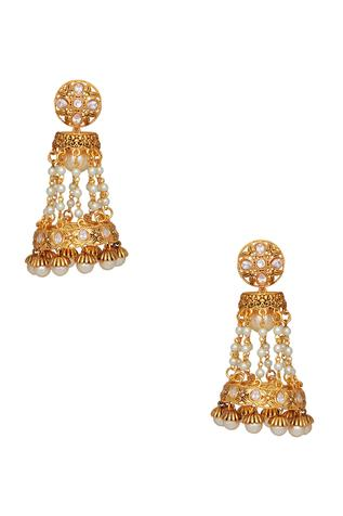 Jhumka drop earrings