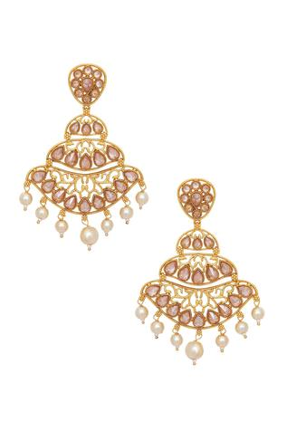 Uncut chandelier earrings