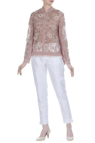 Sheer Embroidered Jacket
