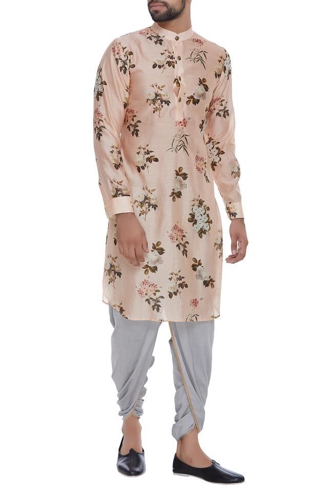 Cotton silk elastic waist dhoti pants