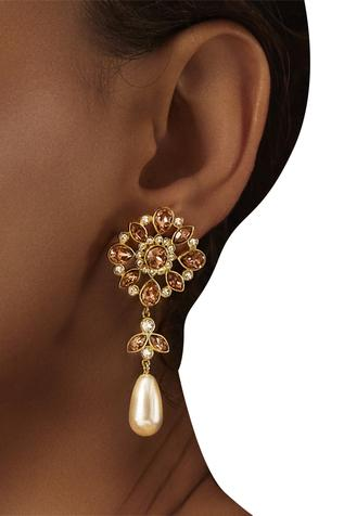 Suneet Varma enchanted forest drop earrings