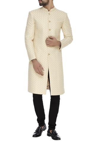 Zari embroidered sherwani set