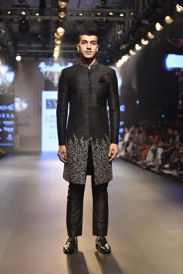 Embellished sherwani with pants