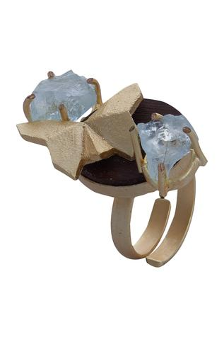 Crystalised Butterfly Ring