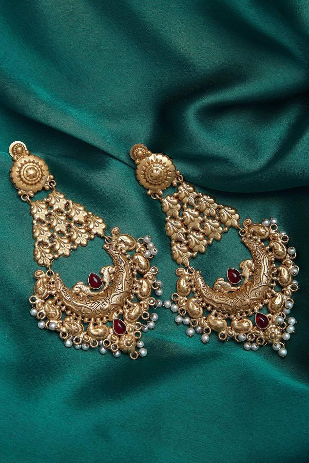 Embellished chaandbali dangler earrings
