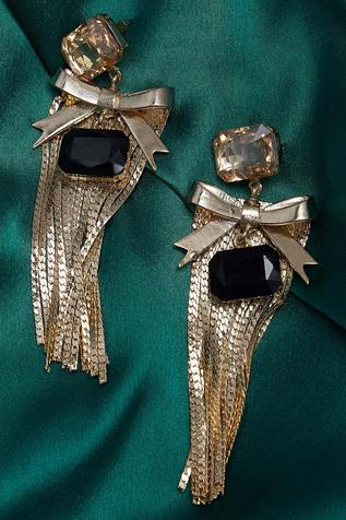 Embellished & tassel dangler earrings