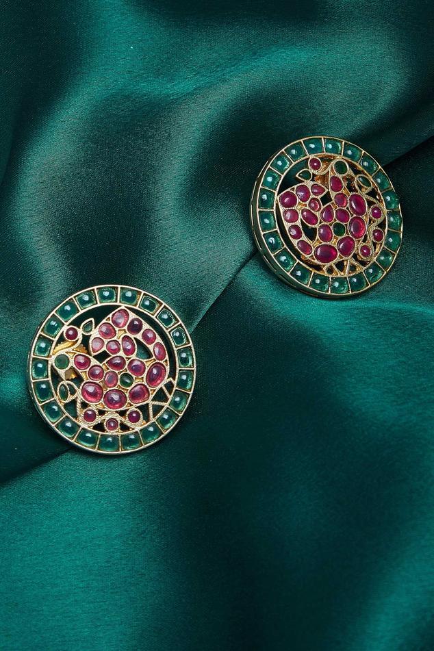 Peacock embellished earrings