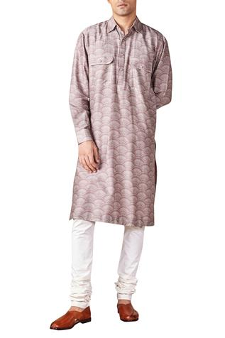 Chanderi Silk Pathani Kurta