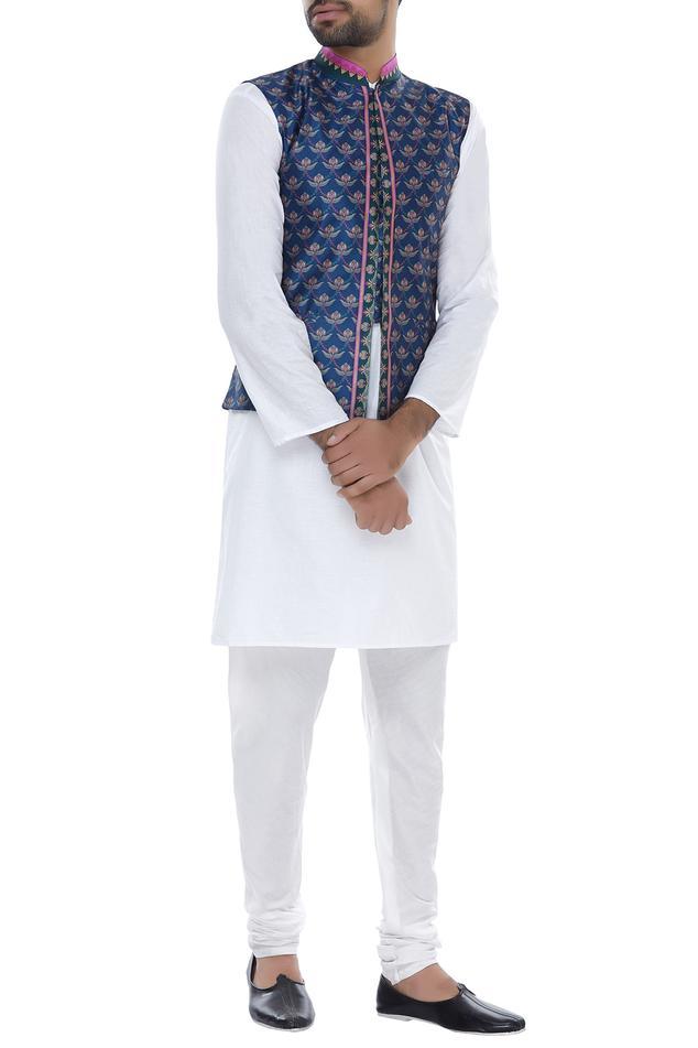 Multi Colored Printed Nehru Jacket