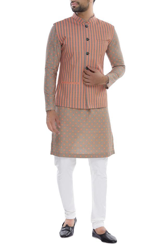 Cotton Striped Bundi