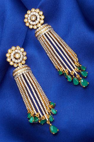Long Danglers With Stone Droplets