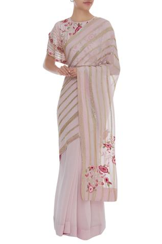 Hand Embroidered Saree With Blouse