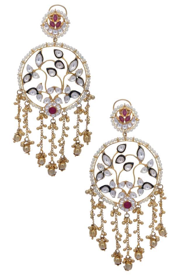 Stone encrusted earrings