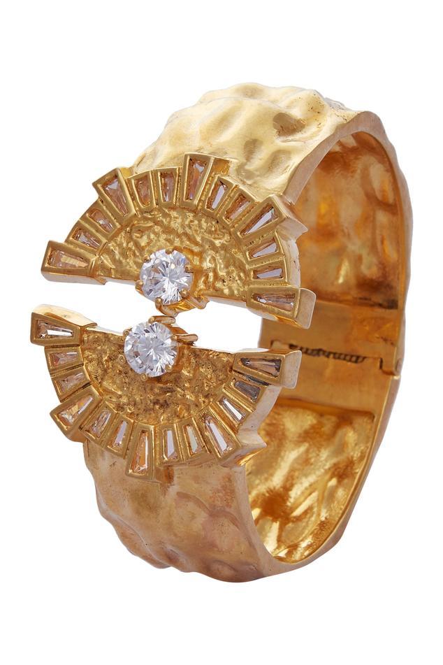 Stone encrusted cuff