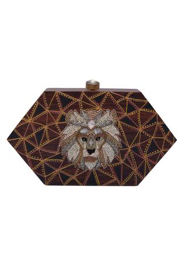 Sequin embroidered sling bag