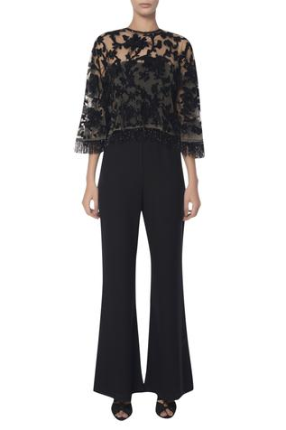 Embroidered Cape with Jumpsuit