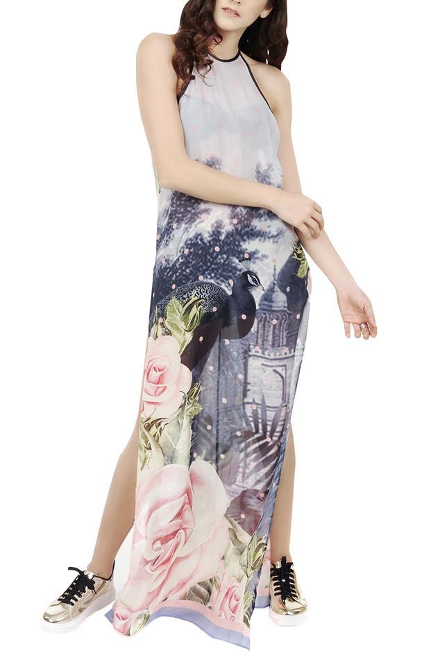 Digital Print Cover up Dress