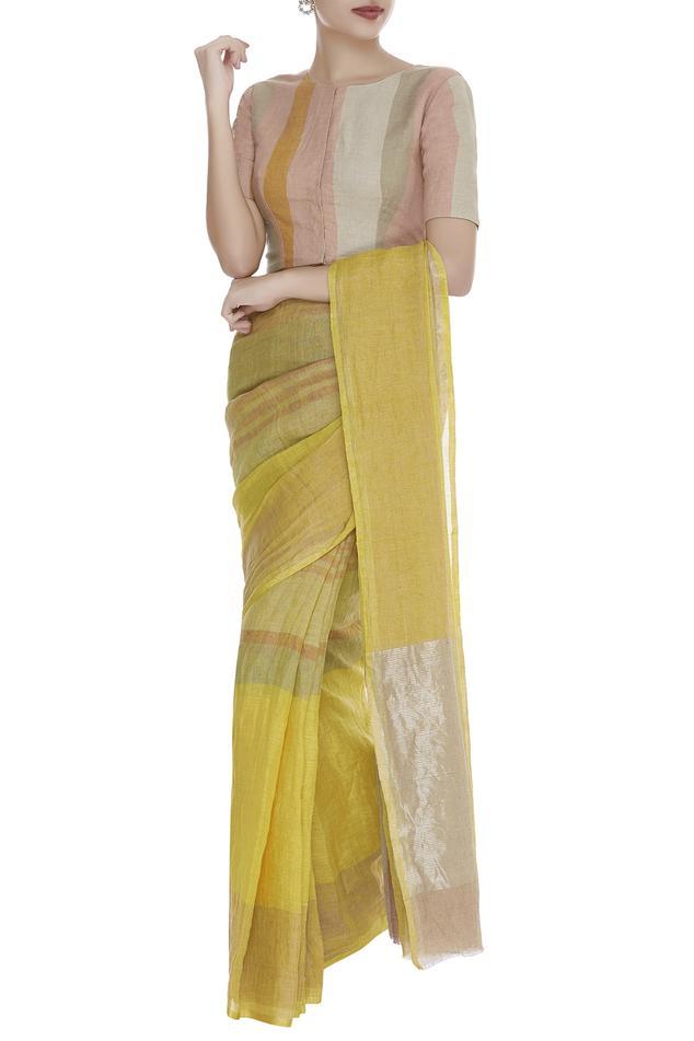 Front Closure Striped saree Blouse