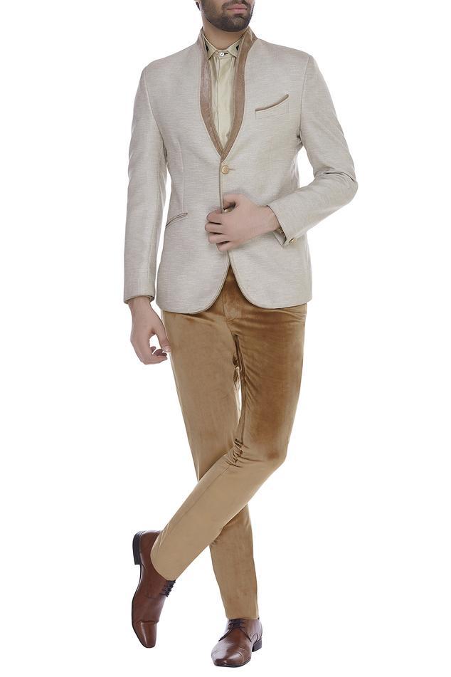 Textured blazer jacket with trouser