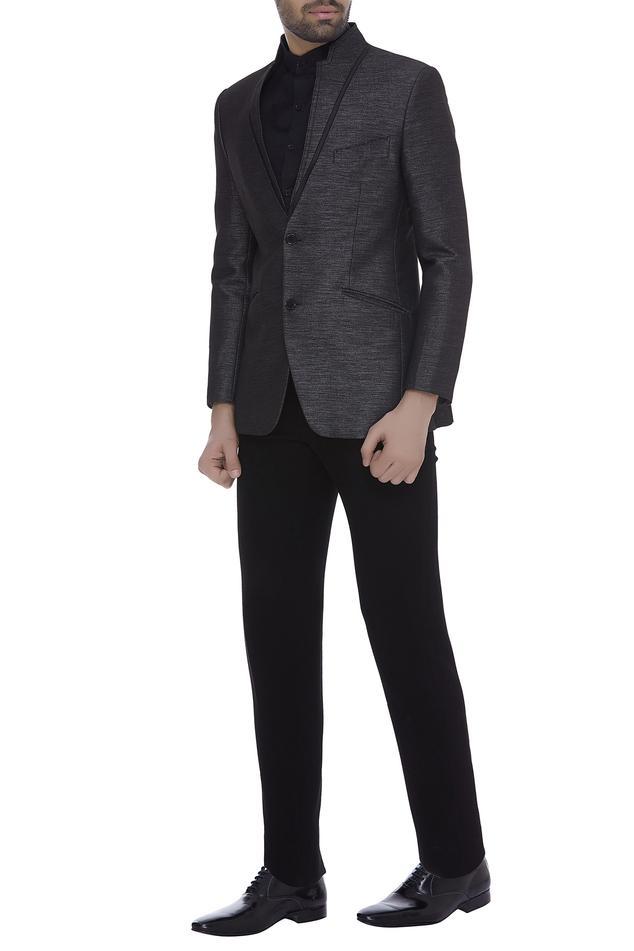 Textured tuxedo set