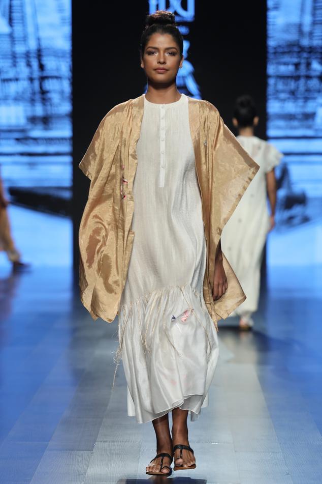 Chanderi Silk Dress with Jacket