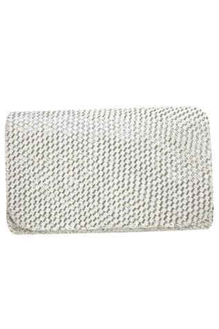 Flapover Hand Embroidered Clutch