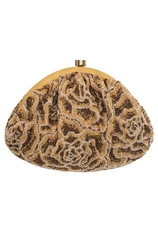 Bead Embroidered Clasp Closure Clutch