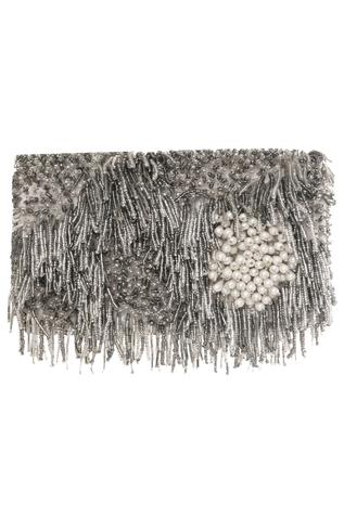 Glass Bead Embroidered Clutch