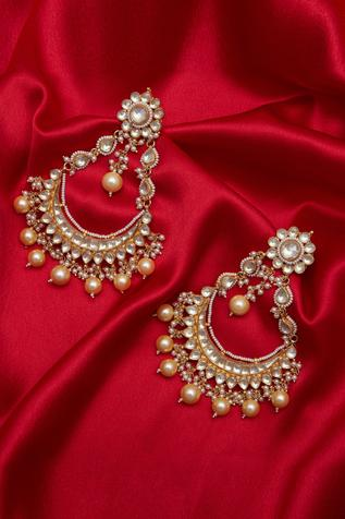 Paachi kundan chandbali earrings