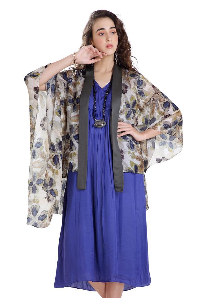 Silk Organza Dress with Jacket