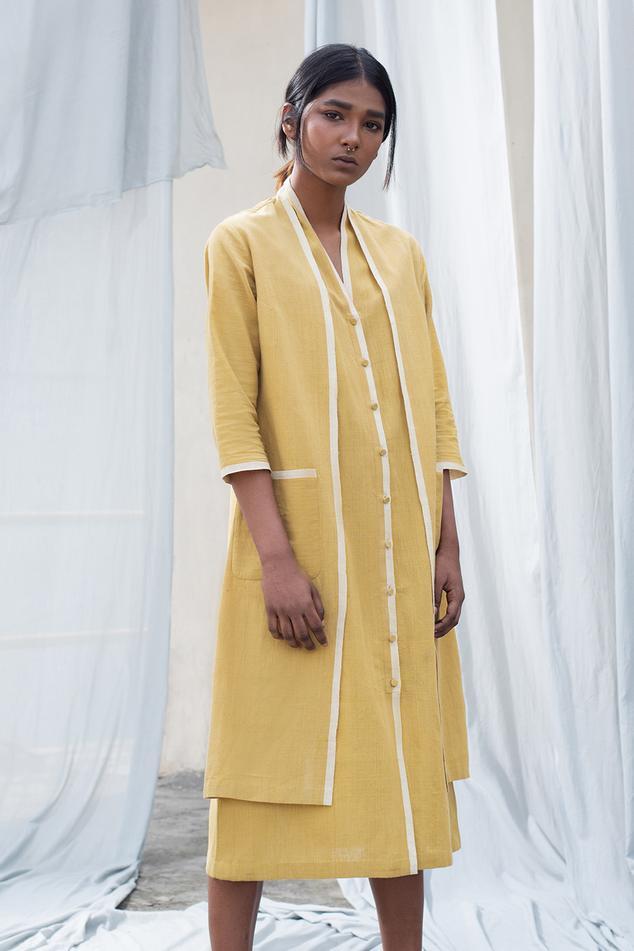 Handloom Cotton Midi Dress