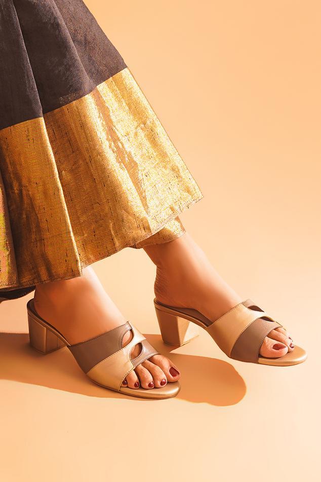 Aarna Colorblock Block Heels
