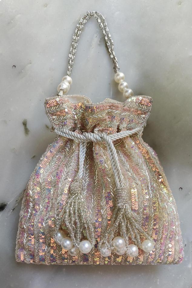 Silk Sequin Potli Bag